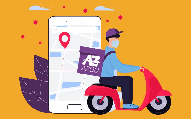 A sua entrega rastreada em tempo real é com a Azoo!